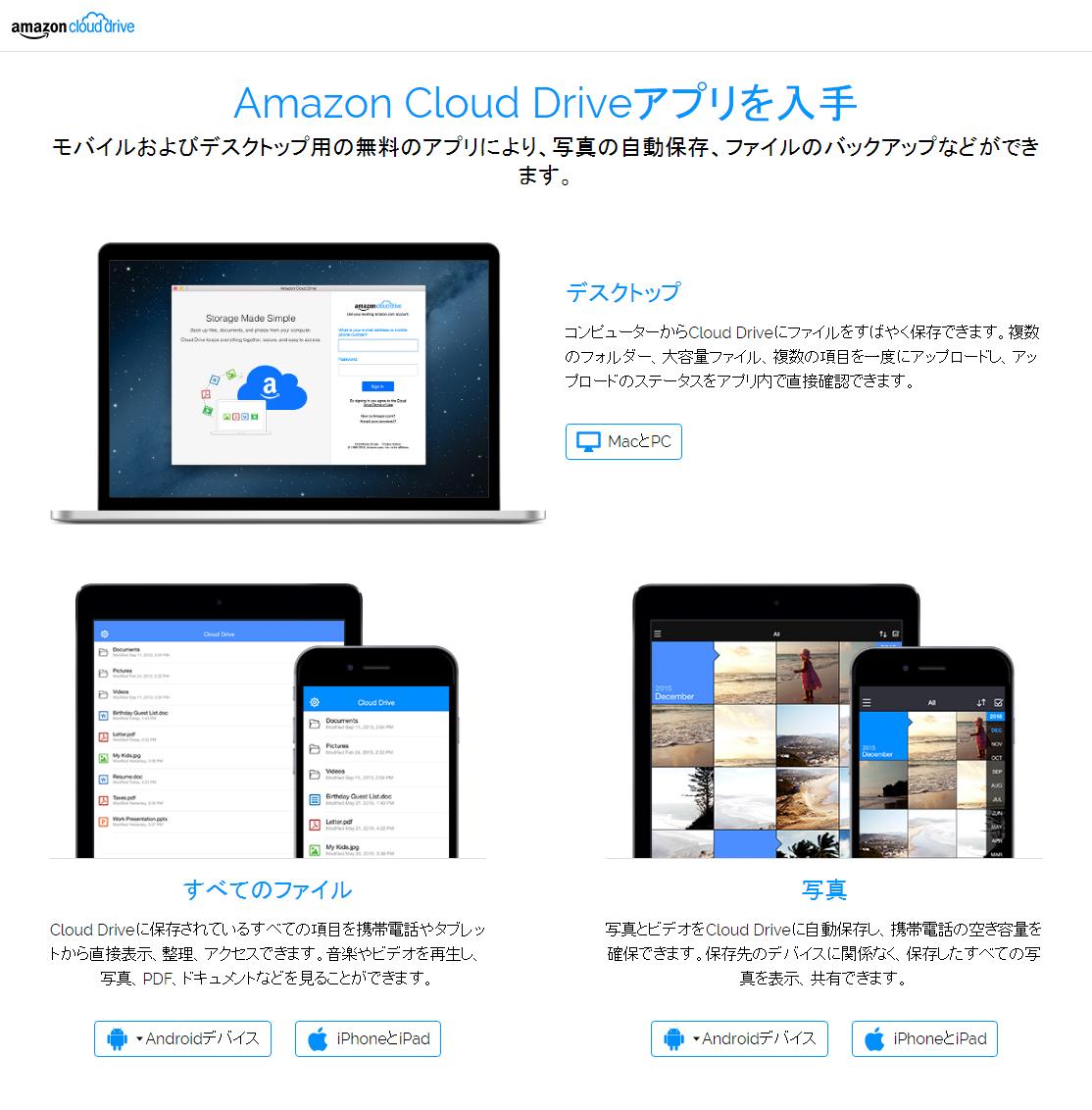 amazon prime photo アプリ