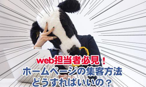 web担当者必見!ホームページの集客方法どうすればいいの?