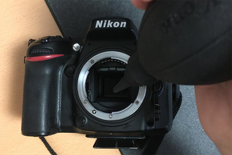 一眼レフカメラ センサー掃除 ブロアー